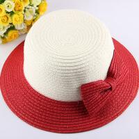 夏天儿童草帽沙滩凉帽子女公主礼帽小孩防晒太阳帽子母女遮阳帽
