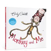 【全店300减100】英文原版 猴子和我 Monkey and Me 格林威奖作家Emily Gravett启蒙亲子趣味