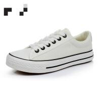 新款帆布鞋女小白鞋韩版布鞋板鞋潮鞋学生夏2019春季 35 女款