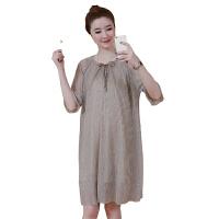 慈颜夏装时尚孕妇连衣裙宽松大摆短袖连衣裙YIFEI9001