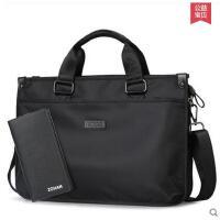 商务电脑包便携文件包公文包手提包男包商务休闲单肩包横款大包