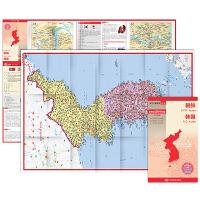 世界分国地图・亚洲-朝鲜 韩国地图