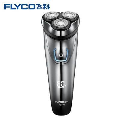 飞科(FLYCO)电动剃须刀 FS339 全身水洗 1小时快充 液晶智能显示 智能刮胡刀全身水洗 一小时充电 液晶显示