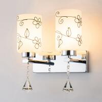 御目 壁灯 现代简约时尚调光灯卧室客厅墙壁床头led台灯阳台过道灯水晶灯 创意灯具