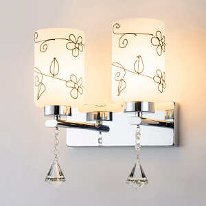 壁灯 现代简约时尚调光灯卧室客厅墙壁床头led台灯阳台过道灯水晶灯 创意灯具