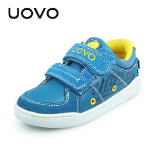 UOVO新款儿童运动鞋春秋魔术贴男童鞋轻便透气中童休闲鞋板鞋 洛迦诺