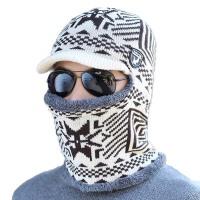 户外防寒冬帽男士骑车防风帽冬季围脖包头帽护脖颈连体帽子