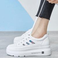 小白鞋女2019春款网红学生百搭基础鞋子新款平底板鞋女生透气白鞋 白色