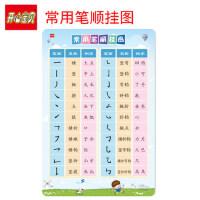 开心宝贝一年级常用笔顺挂图人教版课本同步小学生学习汉字 无声