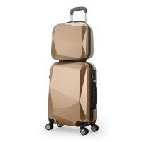 2018新款款镜面硬韧钻石切面密码万向飞机轮拉杆箱登机行李箱旅行箱 子母