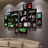台球厅装饰画有框画桌球室墙壁挂画斯诺克明星海报娱乐会所酒吧SN6243 2厘米厚度实木框 全套价格