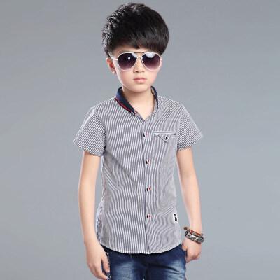 男童白衬衫短袖2018夏季新款儿童衬衣韩版大童12-15岁夏装潮男孩 发货周期:一般在付款后2-90天左右发货,具体发货时间请以与客服协商的时间为准