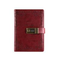 创意手账学生记事本复古密码本带锁日记本文具笔记本子加厚手帐本