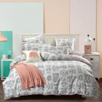 可爱甜美四件套女生宿舍床上用品全棉纯棉四件套