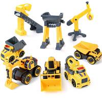儿童玩具车工程车回力挖掘机小汽车男孩推土机叉车宝宝翻斗车
