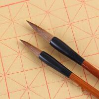 毛笔得力大中小狼毫小学生书法练字用笔 学生毛笔文具中楷毛笔