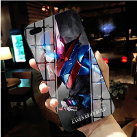 假面骑士zio zi-o 时王铠武ZI-O苹果XSMAX手机壳78plus钢化玻璃壳iphoneX软