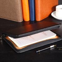 记事本子创意手账本经理包A5多功能商务拉链活页笔记本文具