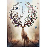 1000片木质拼图定制500儿童益智玩具礼物玄关装饰画林中之鹿