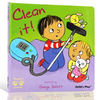 英文原版 Helping Hands Clean It 好帮手系列 清洁 吴敏兰书单 child's play