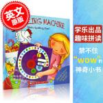 现货 单词拼读游戏书 英文原版 学乐出版 大开本游戏 低幼认知启蒙 Spelling Machine: Make Sp