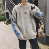 毛衣男士韩版潮流情侣冬季针织衫宽松外套套头半高领慵懒风学生款