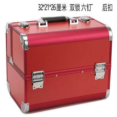 化妆箱化妆箱手提大号多层初学者多功能纹绣纹眉美甲箱子工具箱