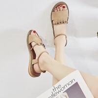 平底�鲂�女仙女�L2019夏季新款�n版百搭�W生�W�t波西米��沙�┬�女夏季百搭鞋