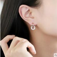 韩国简约耳饰耳坠耳环欧美水晶耳夹个性气质耳钉女甜美耳扣