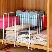 【满减】欧润哲 3只装衣柜隔板图书搁架 夹扣式家居用品收纳架橱柜一架两用分层挂衣架