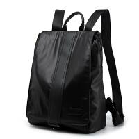 男生书包大学生 双肩包新款青年背包时尚街头男女士背包双肩电脑包潮 黑色