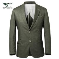 【专柜同步】七匹狼西服 春季新品  男士混纺平纹正装单西男外套