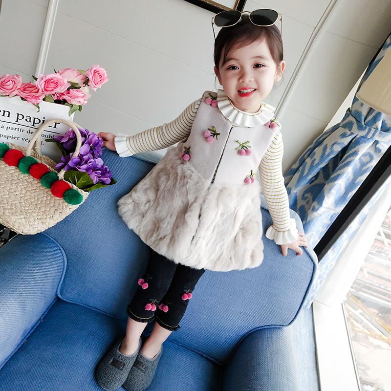 冬装女童马甲宝宝背心中小童洋气马甲尼外套