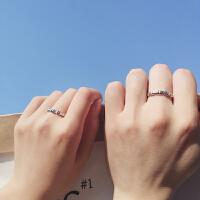 情侣戒指男女一对个性潮人创意指环学生饰品