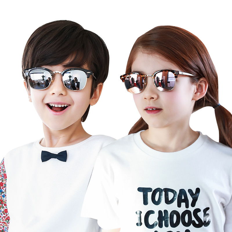 KK树儿童眼镜墨镜太阳镜男女童潮夏季个性时尚宝宝太阳镜女童墨镜2017新款 防紫外线