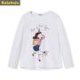 巴拉巴拉童装女童T恤 长袖中大童儿童秋装2017新款打底衫圆领