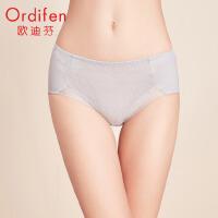 欧迪芬 2020新款女士中腰三角裤网纱无痕性感收腹提臀内裤XT0101