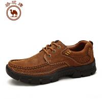 骆驼牌男鞋 秋冬新品舒适 日常休闲皮鞋男士系带低帮男鞋潮