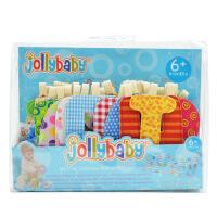 jollybaby多功能字母布书字母床围字母磨牙片早教认知益智玩具
