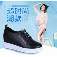 2019春季休闲鞋女韩版内增高女鞋小白鞋系带厚底单鞋学生鞋