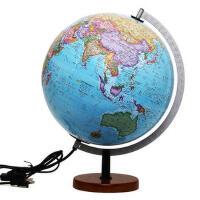 【全新正版T】 博目地球仪 贝斯马克:30cm中英文政区灯光立体地球仪