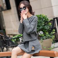 法式套装裙初秋冬小香风2018连衣裙短裙A字裙新款时髦外套两件套