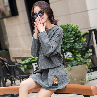 法式套装裙初秋冬小香风2018连衣裙短裙A字裙新款时髦外套两件套   本产品为促销产品,限购一件,未经过客服同意,私自大量下单的一律不发货,并且不作为