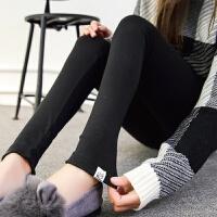 孕妇打底裤薄款春秋外穿纯棉孕妇裤大码春季孕妇装小脚托腹裤长裤 小猫 黑色