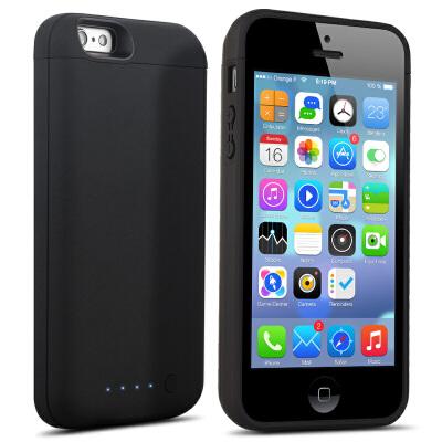 20190612092104856iphone5SE背夹式电池苹果5s专用充电宝超薄移动电源5手机冲壳便携苹果se 全包无下吧