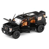 金属仿真1/32乔治巴顿装甲车合金小汽车模型玩具防暴车声光回力
