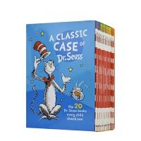 A Classic Case of Dr. Seuss 苏斯博士故事书20册盒装 趣味插图 儿童分级阅读读物 经典英语绘