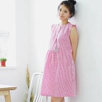 慈颜孕妇装夏装 孕妇裙连衣裙 格子衬衫裙时尚孕妇装YYF5839