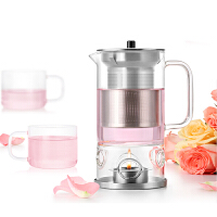 尚明花草茶具套装 整套玻璃茶具透明水果茶壶茶杯 蜡烛加热花茶壶T70T71