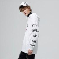 美特斯邦威连帽套头卫衣男士2017秋季新款韩版宽松潮流学生上衣